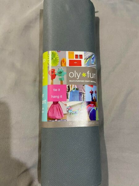 Oly Fun DIY Gray mask liner waterproof polypropylene non woven fabric 20quot; x 3 yd