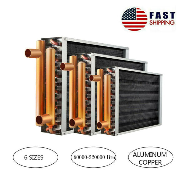 AB Water to Air Heat Exchanger with Copper Ports for Outdoor Wood Furnaces $85.90