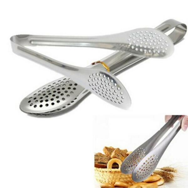 Kitchen Stainless Steel Salad Tongs Cooking Food Serving Utensil Tong Clamp Clip