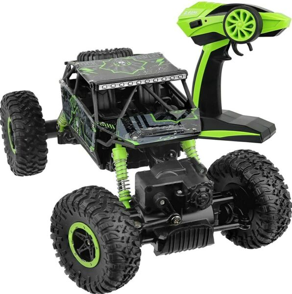 4WD RC Monster Truck Off Road Vehicle 2.4G Remote Control Crawler Car Green