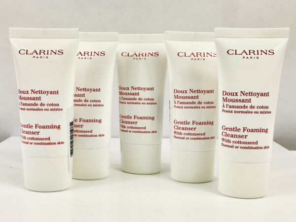 Clarins Gentle Foaming Cleanser with Cottonseed 150 ml 5x30ml Sealed