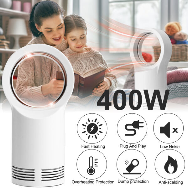 400W Space Heater Electric Heater Indoor Portable Air Warmer Bladeless Warm Fan $25.95