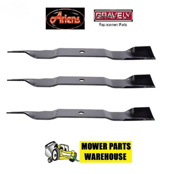 3 REPL ARIENS GRAVELY ZTX IKON X XL LAWN MOWER BLADES 04771200 52quot; DECK