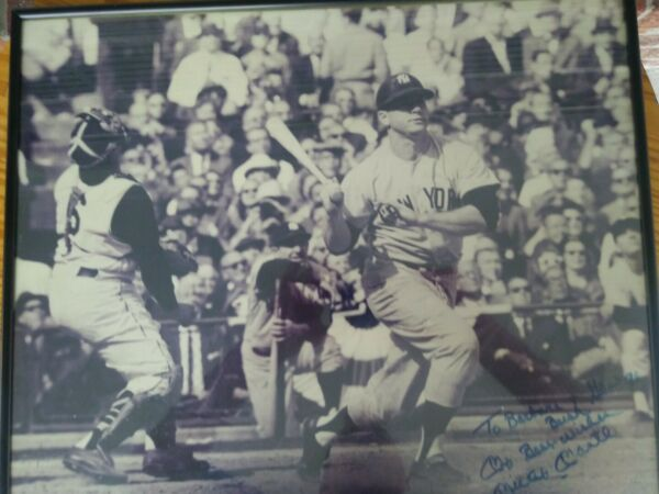 Mickey Mantle Yankees Autographed to President Bush 16x20 Photo JSA full letter