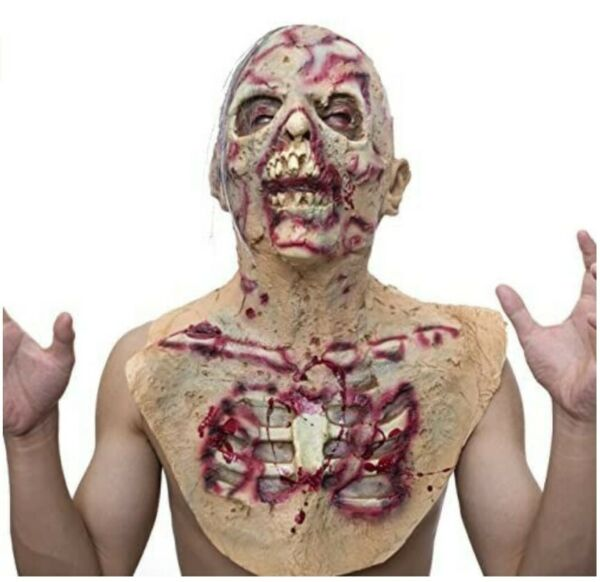 Scary Full Head costume Monster Costumes Costume Party Rubber Latex Costume $22.49