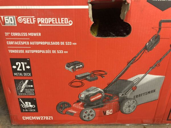 NEW CRAFTSMAN V60 60-Volt Max Self-propelled 21-in Cordless CMCMW270Z1