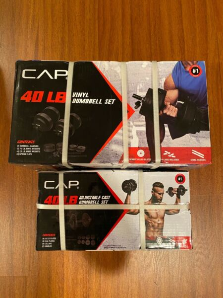 NEW CAP COATED RUBBER HEX DUMBBELLS select-weight 51015 20 25 30 35 40LB
