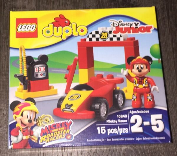 Disney Junior Lego Duplo Set MICKEY MOUSE Roadster Racers Racer Car 10843 NEW
