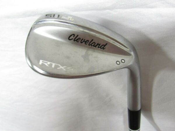 New Cleveland RTX-4 Satin 58* Wedge 58.09 - Tour Issue S400 Stiff flex Steel RH