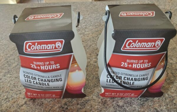 Coleman 2 Pack Color Changing LED Citronella Outdoor Scented 25 Hours Candle $22.99