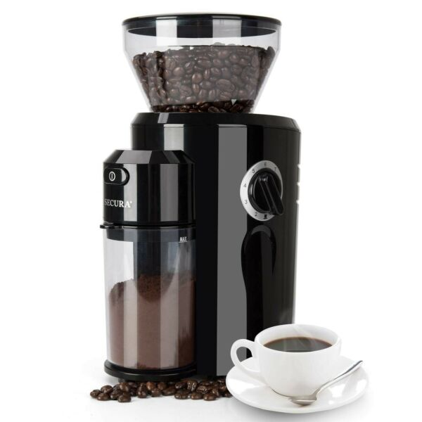 Secura Burr Coffee Grinder Conical Burr Mill Grinder with 18 Grind Settings ...