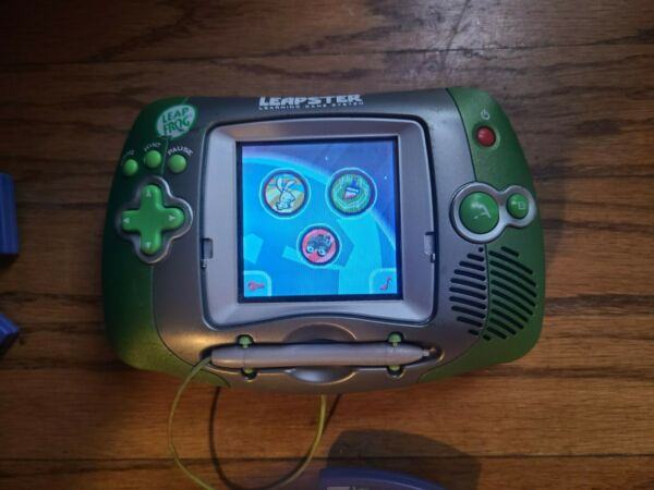 Leap Frog Leapster Handheld Learning Game System #20200 + 3 games.  Works great! $20.00