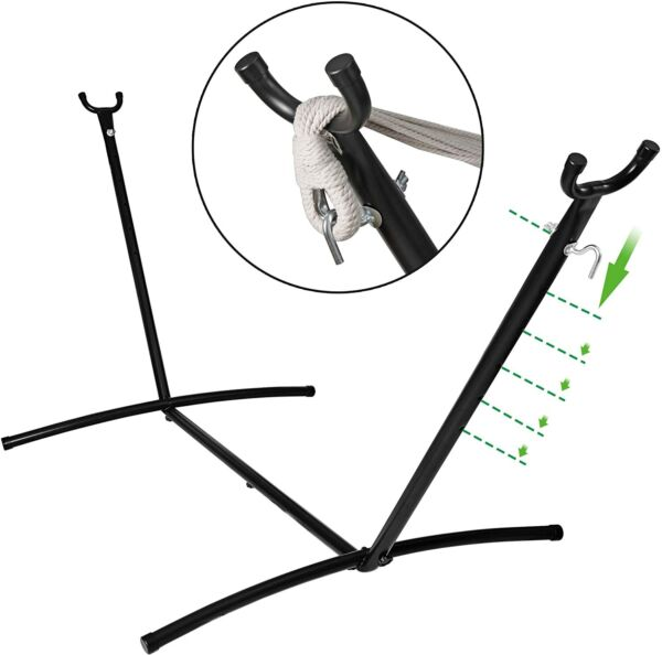 Hammock Stand 450LBS Capacity Metal Frame with Carrying Case in Garden Relax $57.99