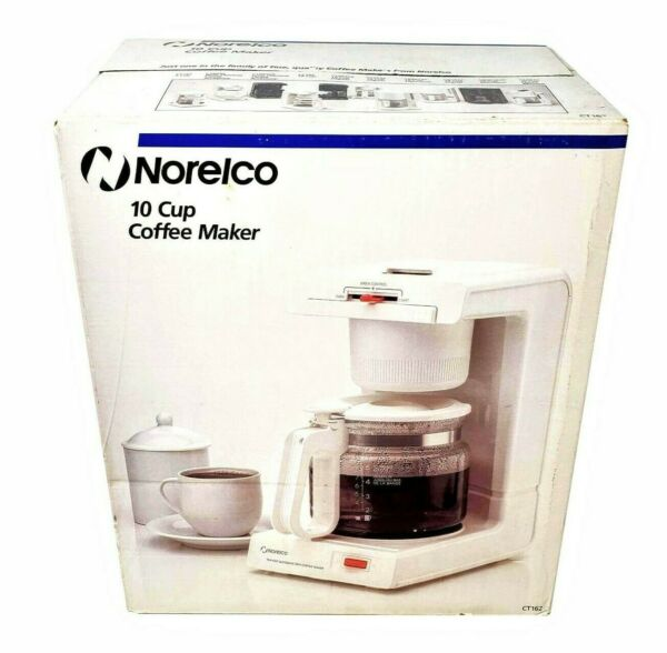 Vintage Automatic Drip Norelco Dial A Brew Control 10 Cup Coffee Maker CT162 NEW