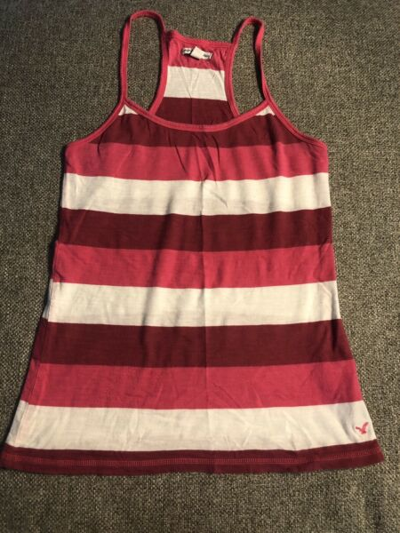 American Eagle Pink White Stripe Small Tank AE $7.00