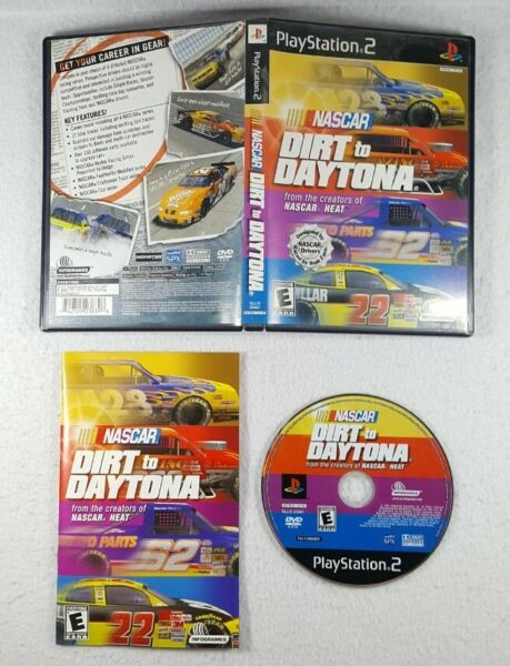 NASCAR: Dirt To Daytona (Sony PlayStation 2 PS2 2002) Complete - Free Shipping $17.95