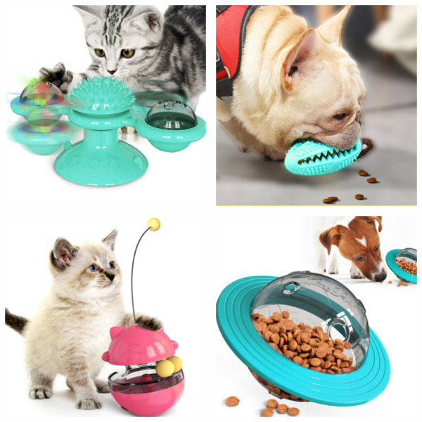 Cat Toy Dog Toy Pet Supplies Tickle Scratch Hair Brush Or Pet Food Dispenser $15.59