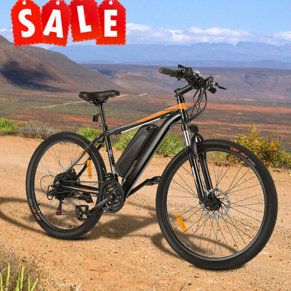 26INCH Electric Bike Mountain Bicycle EBike SHIMANO 21 Speed 350W 36V Li Battery $669.99