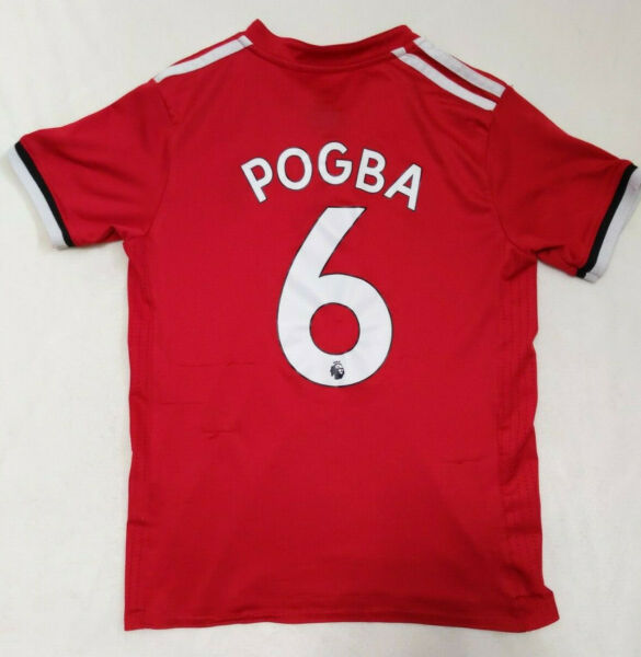 Manchester United 2017-2018 (Youth 24) POGBA 6 Home Jersey Adidas Man Utd