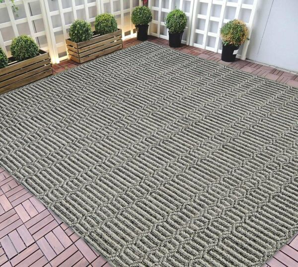 Indoor Outdoor Rugs 8x10 Striped Pattern Gray Outdoor Carpet Rug Lasts Long