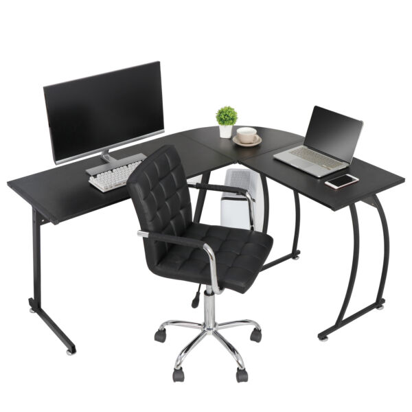 L Shaped Corner Desk Computer Gaming Desk PC Table Writting Table Home Office $72.99
