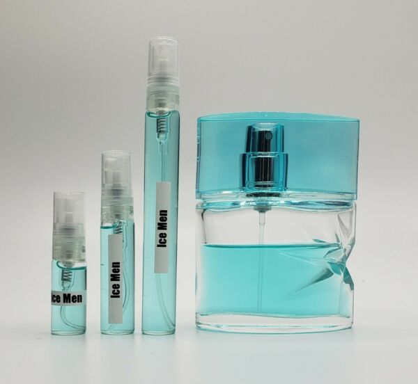 Thierry Mugler Ice Men 3ml 5ml 10ml Sample Decant in Glass Atomizer $9.34