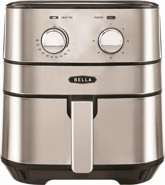 Bella 4 qt. Analog Air Convection Fryer Stainless Steel
