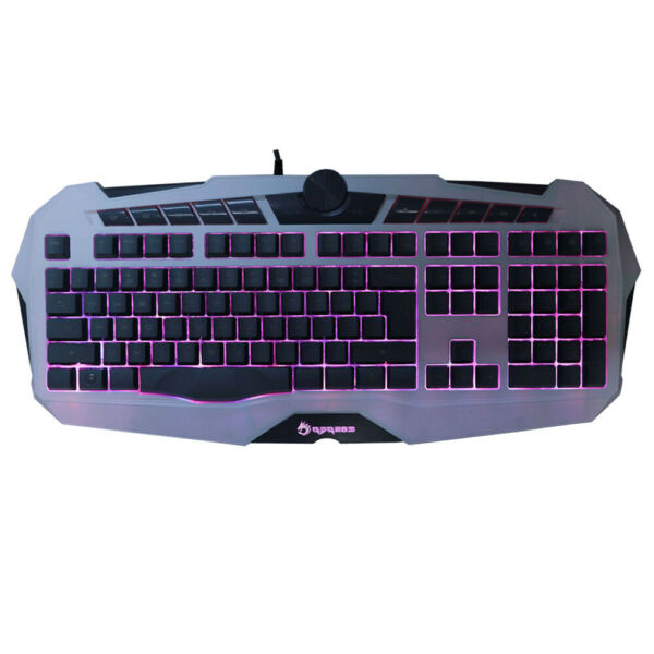 Gift Wired Gaming USB Keyboard Game LED Backlight Illuminated for Pc Laptop Gray