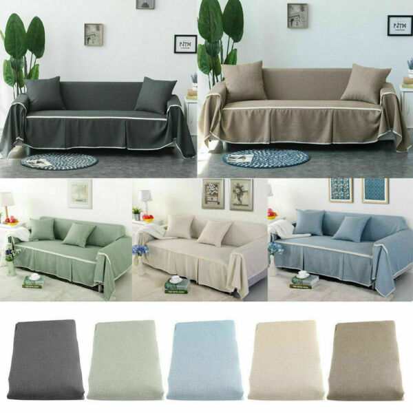 1 2 3 4 Seater Elastic Comfortable Sofa Cover Couch Covers Protector Slipcover $24.27