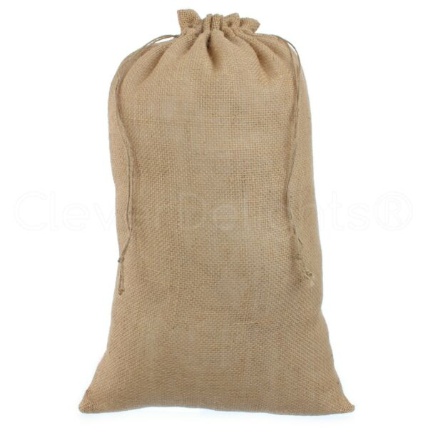 12quot; x 20quot; Burlap Bags with Natural Jute Drawstring Pouch Sack Bag 12x20 Inch