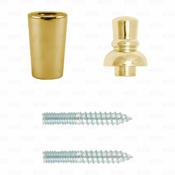 Beer Tap Handle Repair Kit Brass Gold Ferrule Top Finial X2 Sided Hanger Bolts