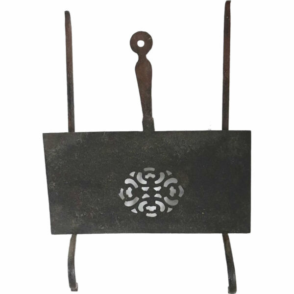 Antique English Georgian Forged Iron Fireplace Hearth Sliding amp; Hanging Trivet c