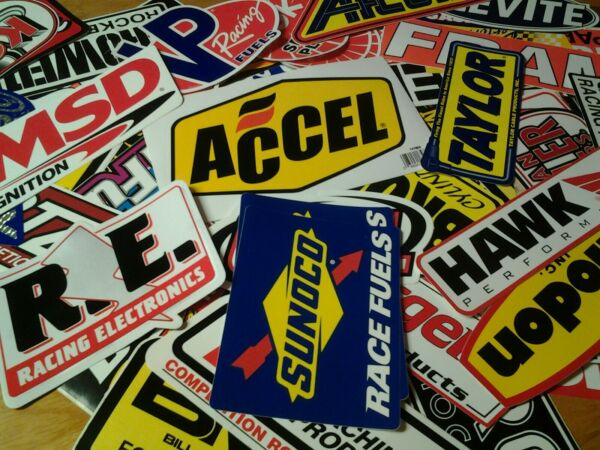 Lot of 15 AUTHENTIC Race Car Racing Stickers Decals Hot Rod MSD Holley VP