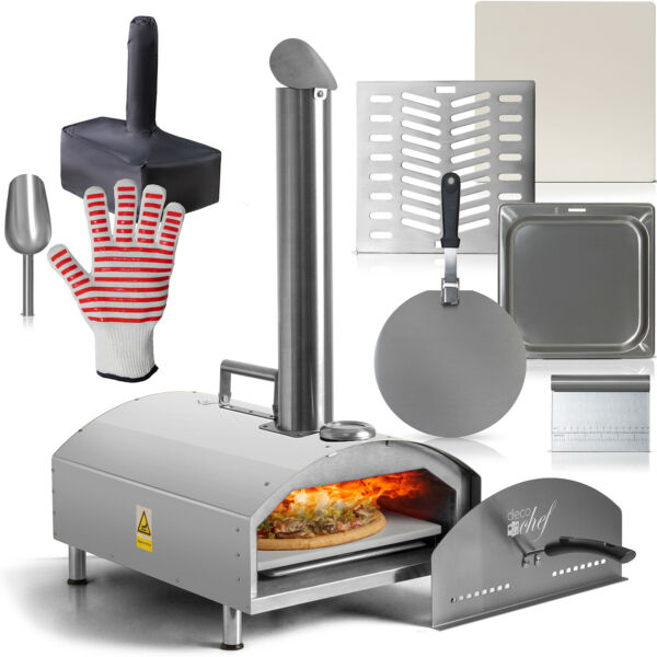 Deco Chef Portable Outdoor Pizza Oven w 2 in 1 Pizza amp; Grill Oven Functionality