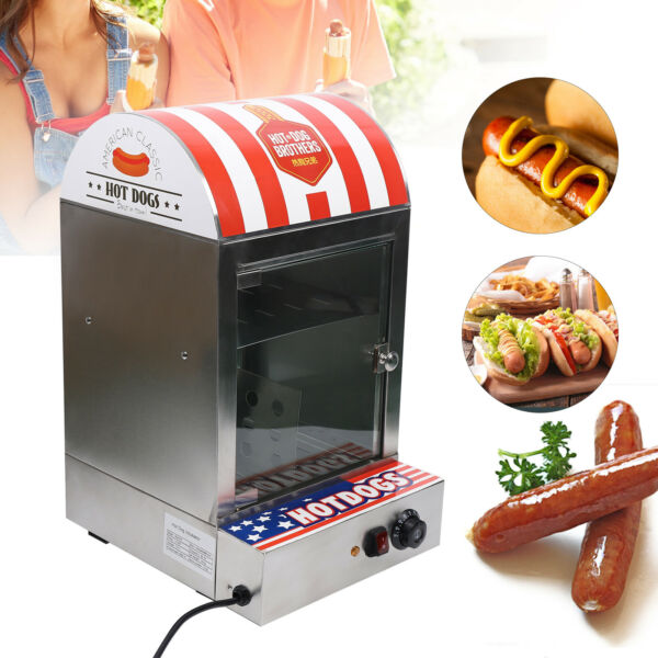 1500W Commercial Stainless steel Electric Hot Dog Steamer Food Bun Warmer NEW $178.00