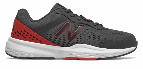 New Balance 517v2 Mens Shoes Grey with Black amp; Red