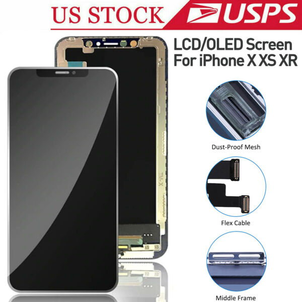 LCD For iPhone X XR XS OLED Dsisplay Screen Replacement 3D Touch Screen Assembly