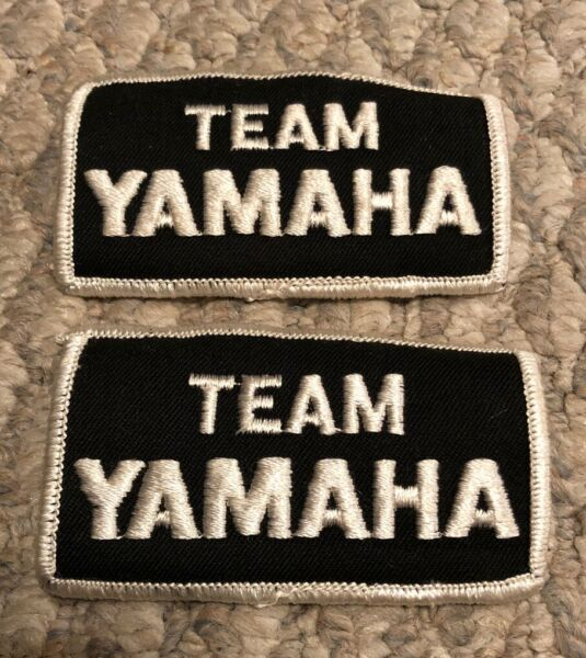 New Vintage Embroidered Team Yamaha Dirt bike Motorcycle Patch 2 Pack $8.79