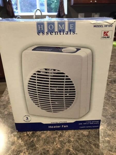 Home Essential Small Heater Fan White $14.00