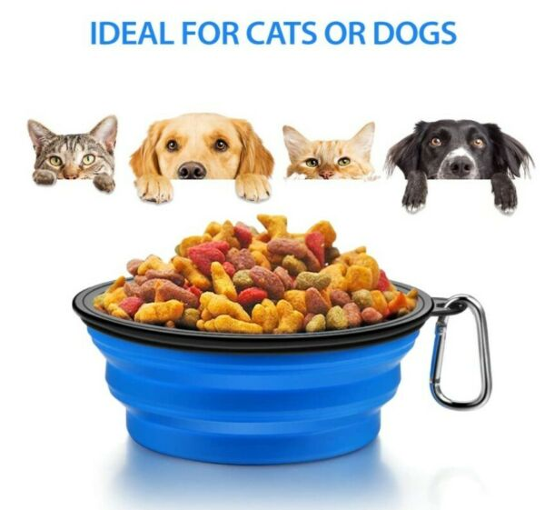 Portable Travel Dog Bowl Foldable Dog Bowl Slow Feeder Cat Water Bowls New $4.99