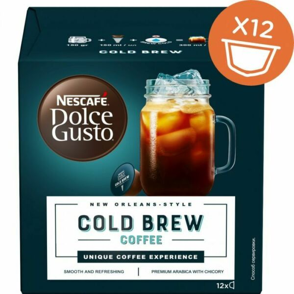 NESCAFE Dolce Gusto COLD BREW Ice Coffee Capsules Pods Smooth amp; Refreshing