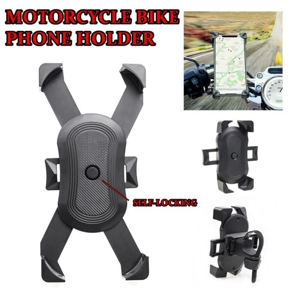 Universal Bicycle Motorcycle Handlebar MTB Bike Mount Holder for Cell Phone GPS $7.98