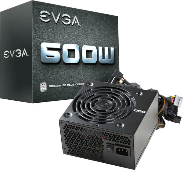 EVGA W1 Series 600W ATX 12V EPS 12V 80 Plus Power Supply Black