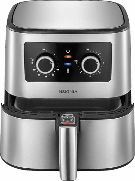 Insignia 5 qt. Analog Air Fryer Stainless Steel $49.99