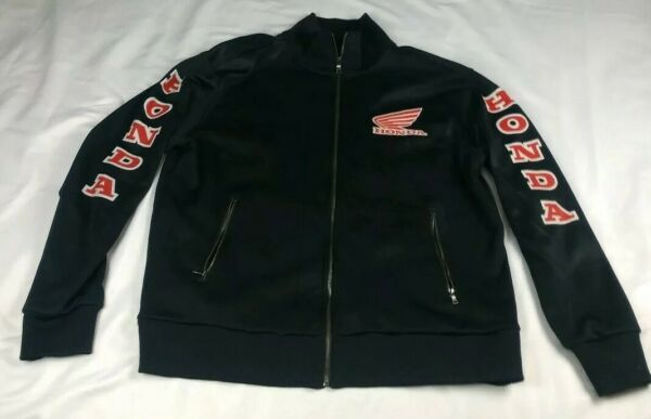 RARE Apt. 9 Men#x27;s Sz L Honda Track Jacket Coat Black Red $199