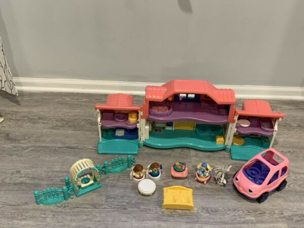 Fisher Price Little People Sweet Sounds Home Suv Swing Baby Dog Furniture Lot $45.99