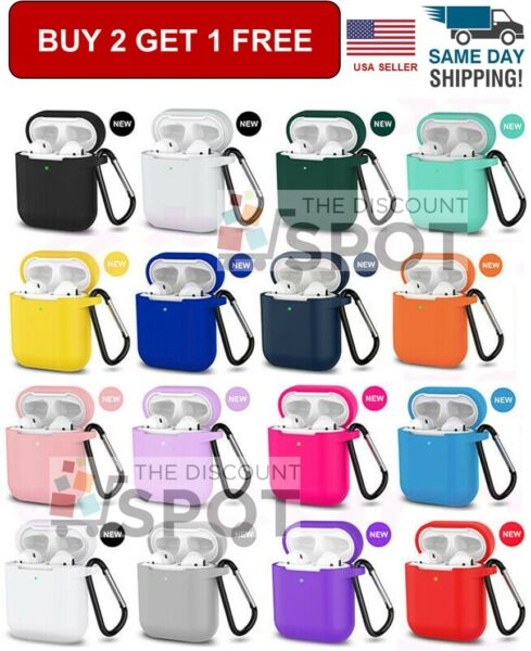 AirPods Silicone Case Keychain Protective Durable Cover For AirPod Case 2 amp; 1