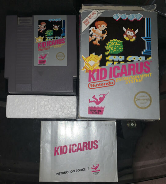 Kid Icarus Nintendo NES Complete Authentic 5 Screw