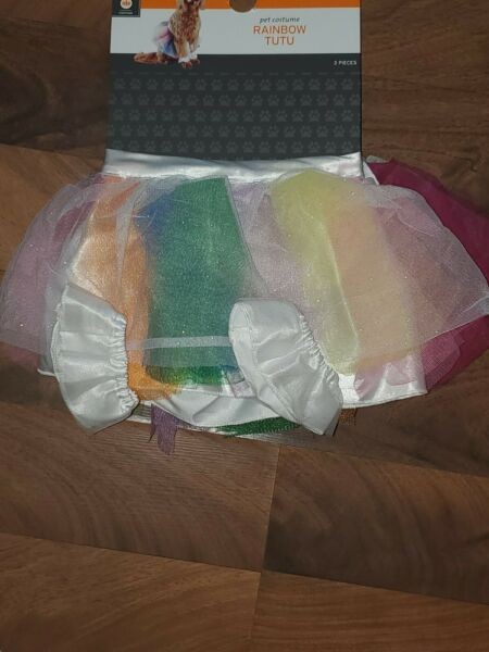 Brand New Large XL Dog Rainbow Tutu Halloween Costume $8.75
