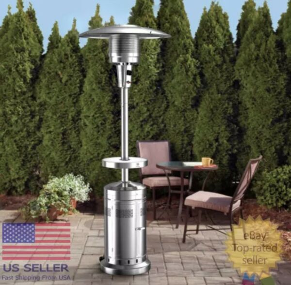 NEW Member#x27;s Mark Patio Propane Heater with Wheels 47000 BTU ⚡️Fast Shipping⚡️